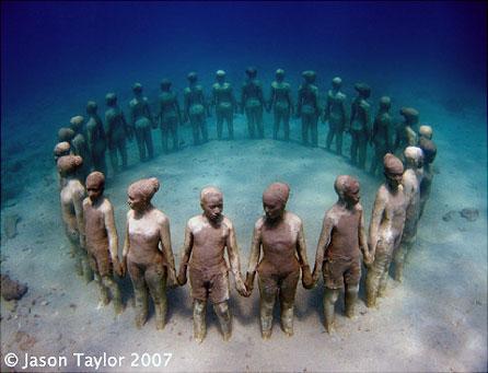 подводная выставка скульптур