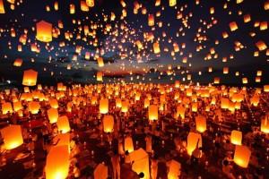 фестиваль фонариков в Тайладне