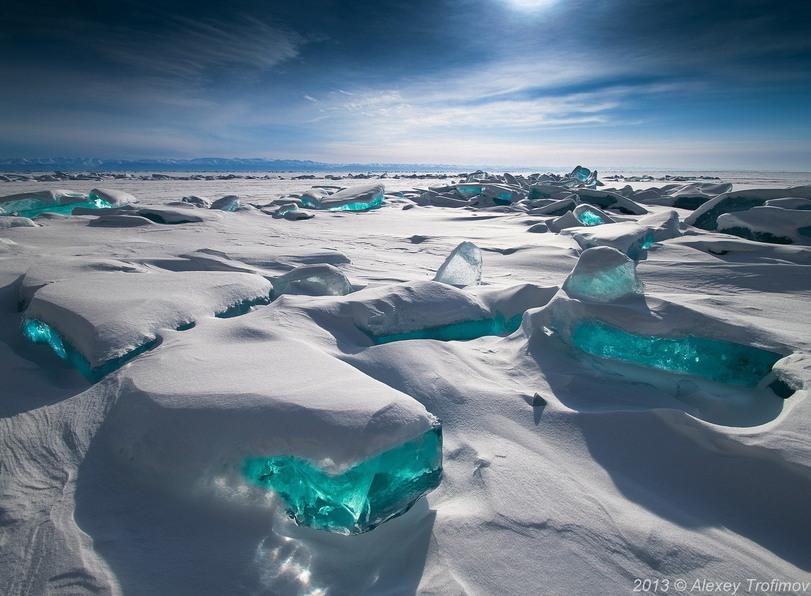Природа байкал голубой лед