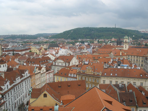 прага вид на город с башни