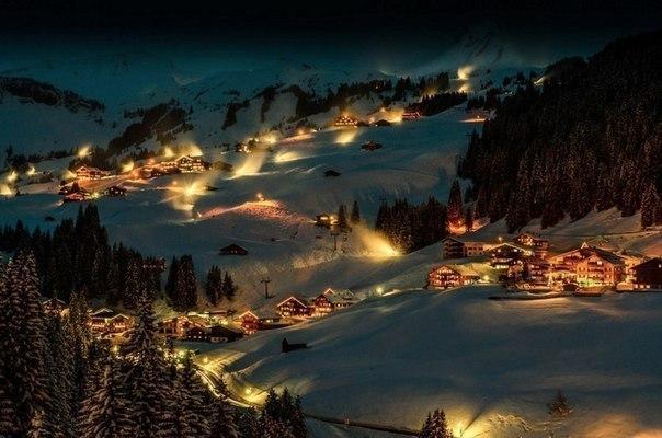 Ночь в деревне Брегенцервальд, Австрия