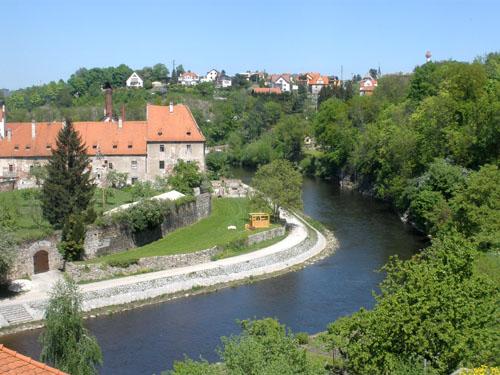 крумлов вид на город и реку