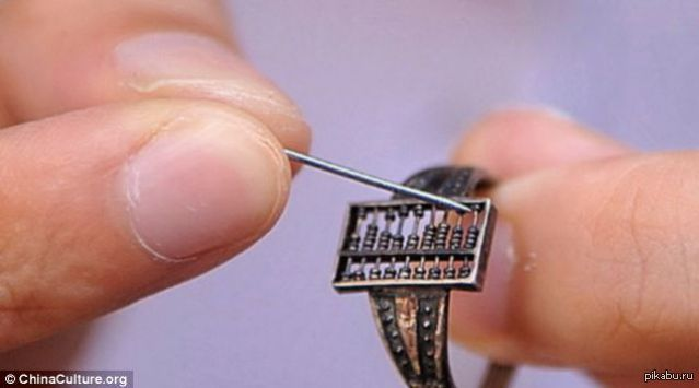 300 летнее китайское кольцо-счеты, использовавшееся торговцами во времена династии Цин