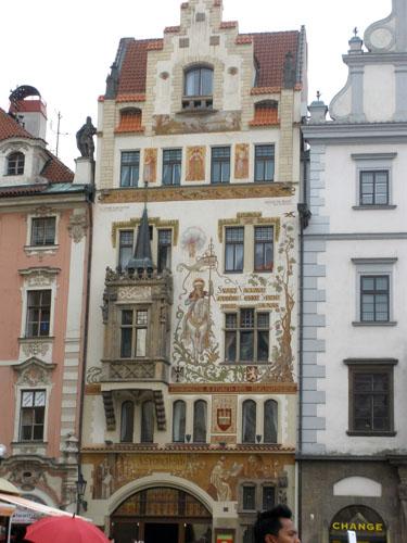 Прага роспись фасадов