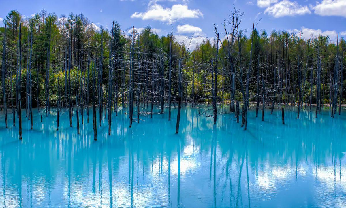 Голубой пруд в посёлке Биэй