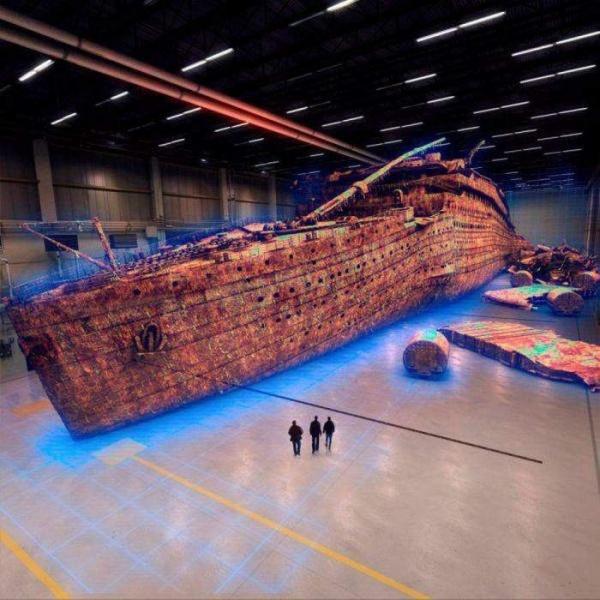 Титаник в натуральную величину, в 3D формате.