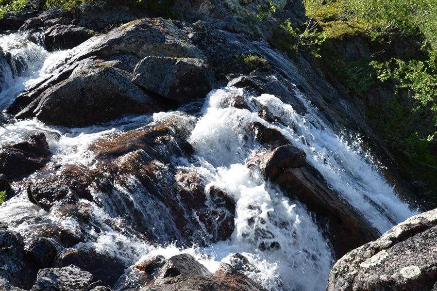 Бурная вода, водопад