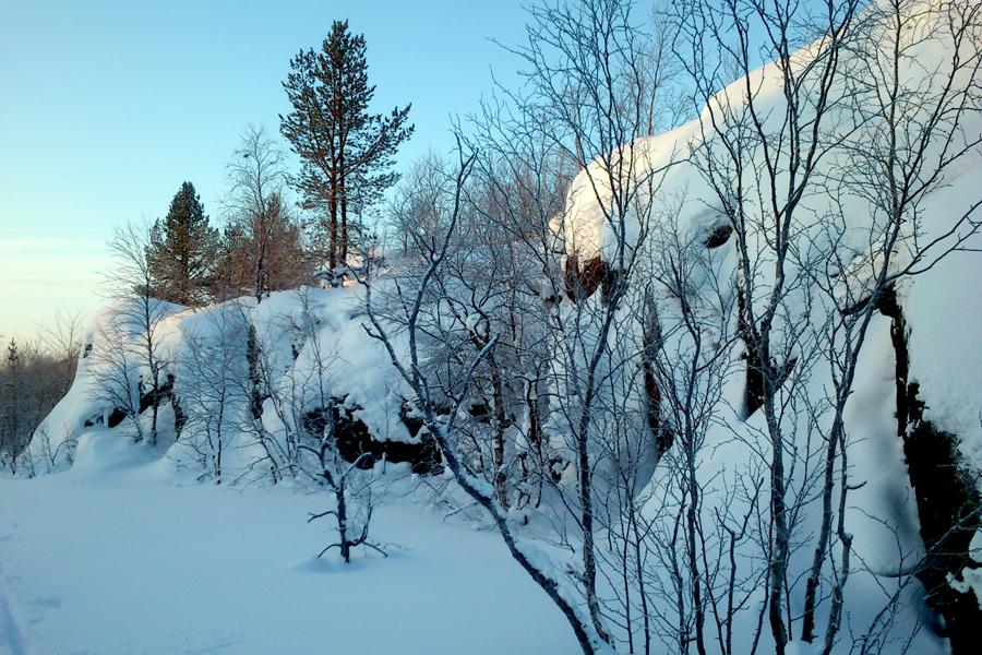 Февраль, недалеко от Мурманска