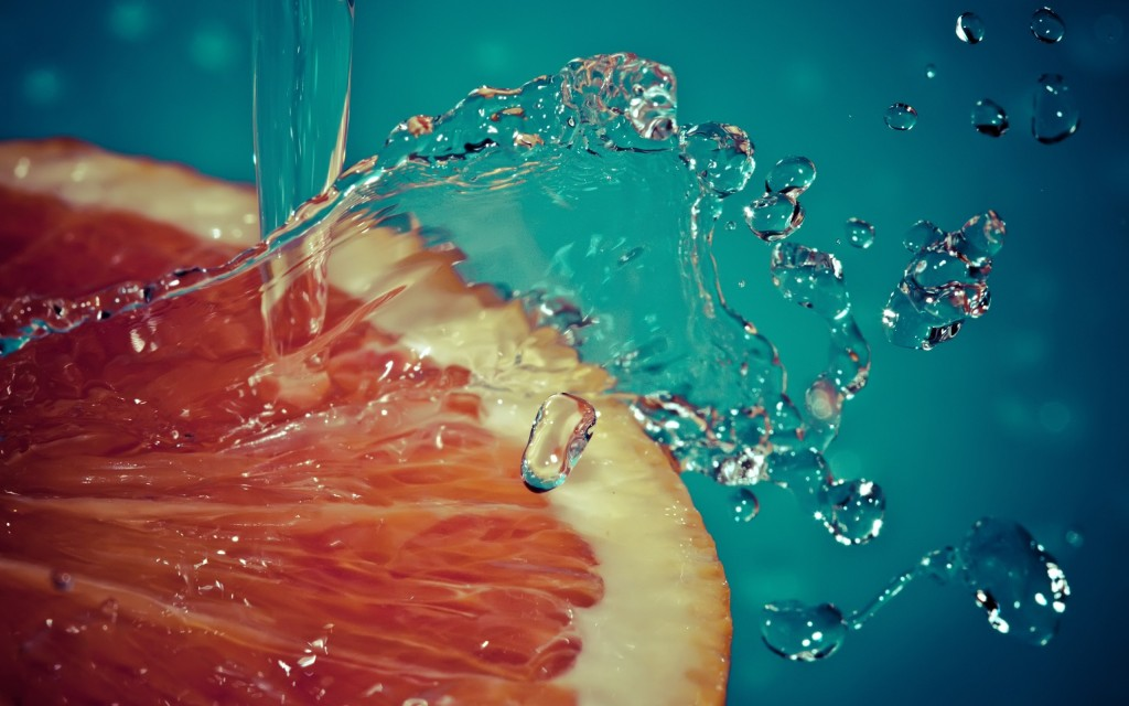 Капли на грейпфруте