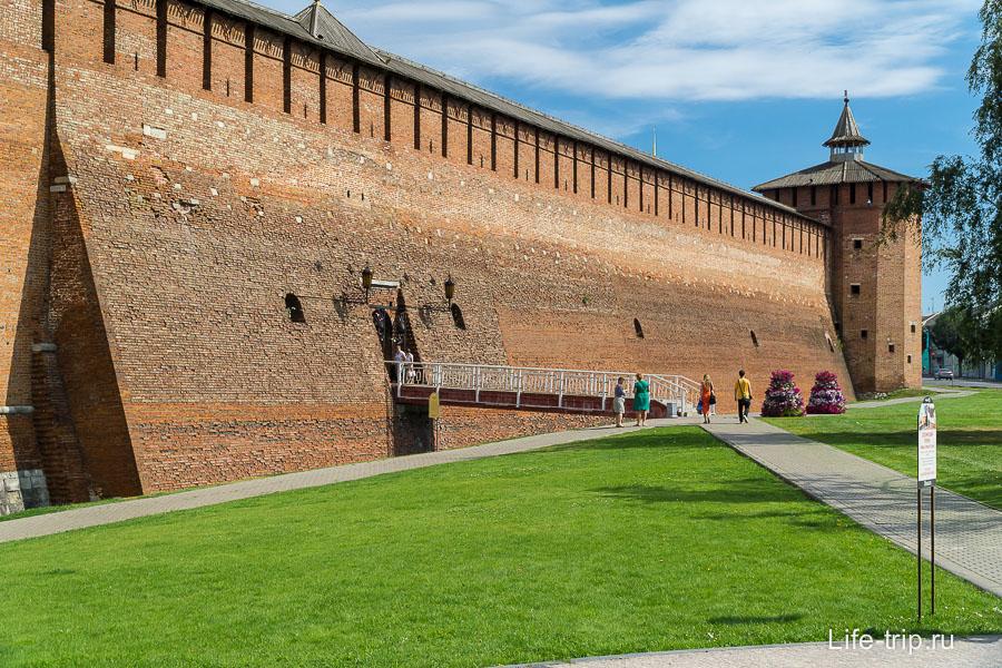 коломна11 сохранившаяся стена