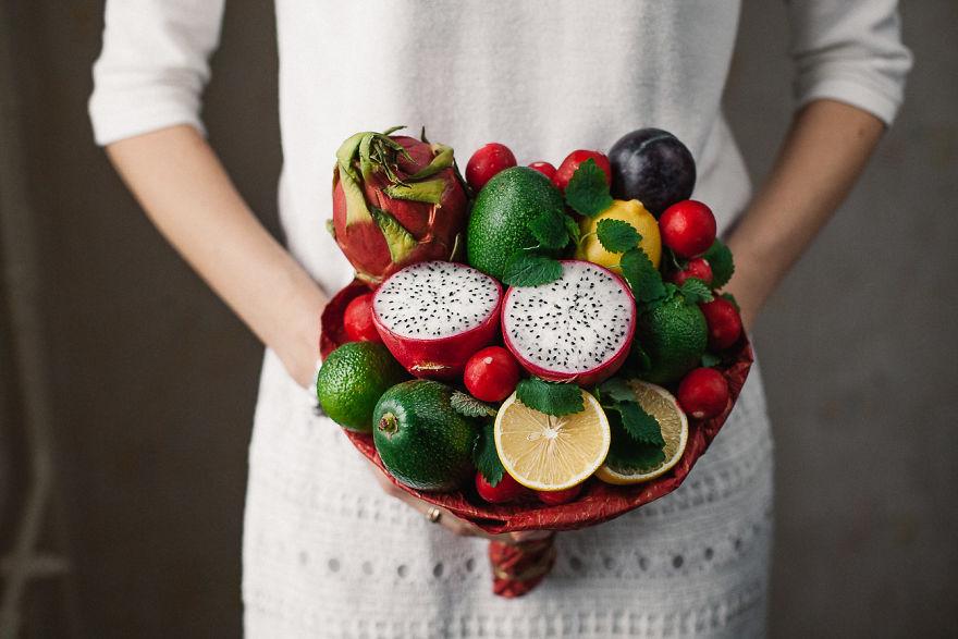 букет от каролины самале из продуктов