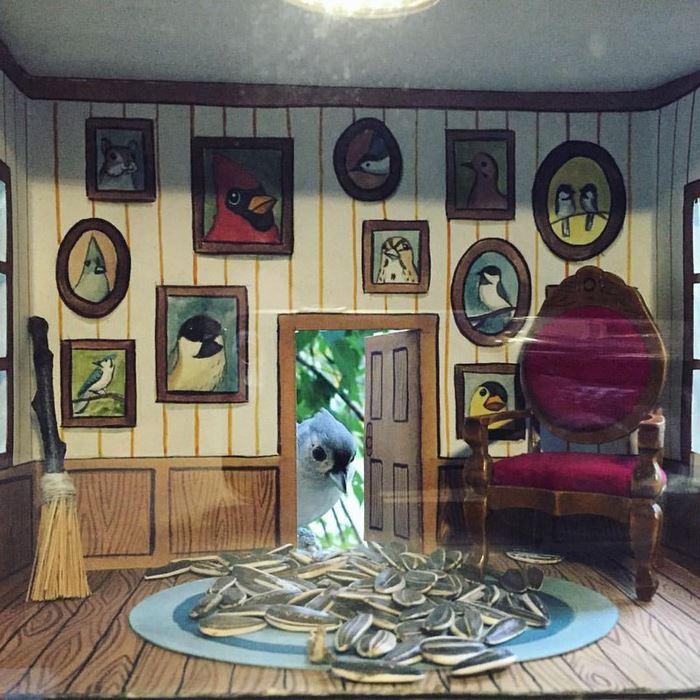 домик для птичек с мебелью джада фитч