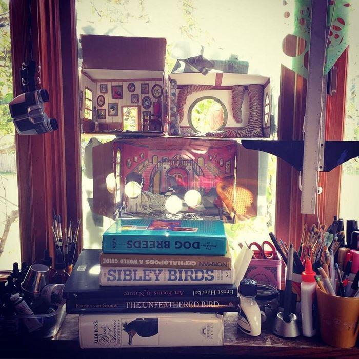 5 домик для птичек с мебелью джада фитч