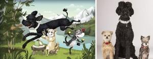 1 Портреты картины с домашними животными от Криса Бетау - кошки и собаки