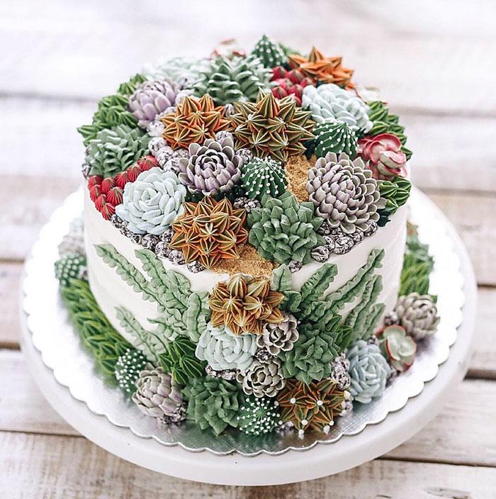 Цветы съедобне из кексов фото